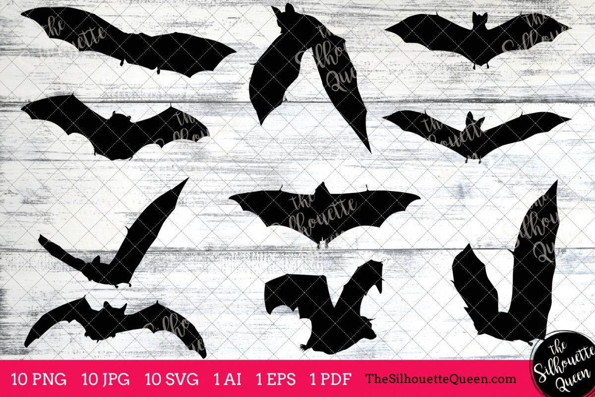 Bats clipart five. Vampire bat silhouette clip