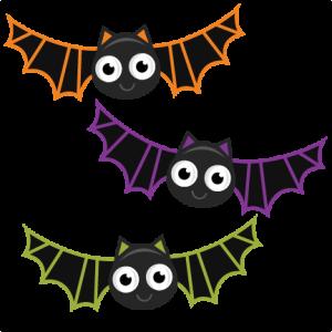 Halloween miss kate cuttables. Bats clipart friendly