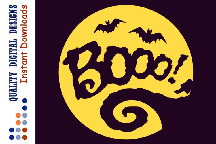 Halloween sign svg boo. Bats clipart ghost