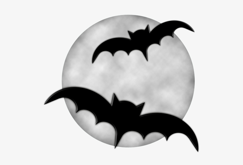 Halloween moon with png. Bats clipart haloween