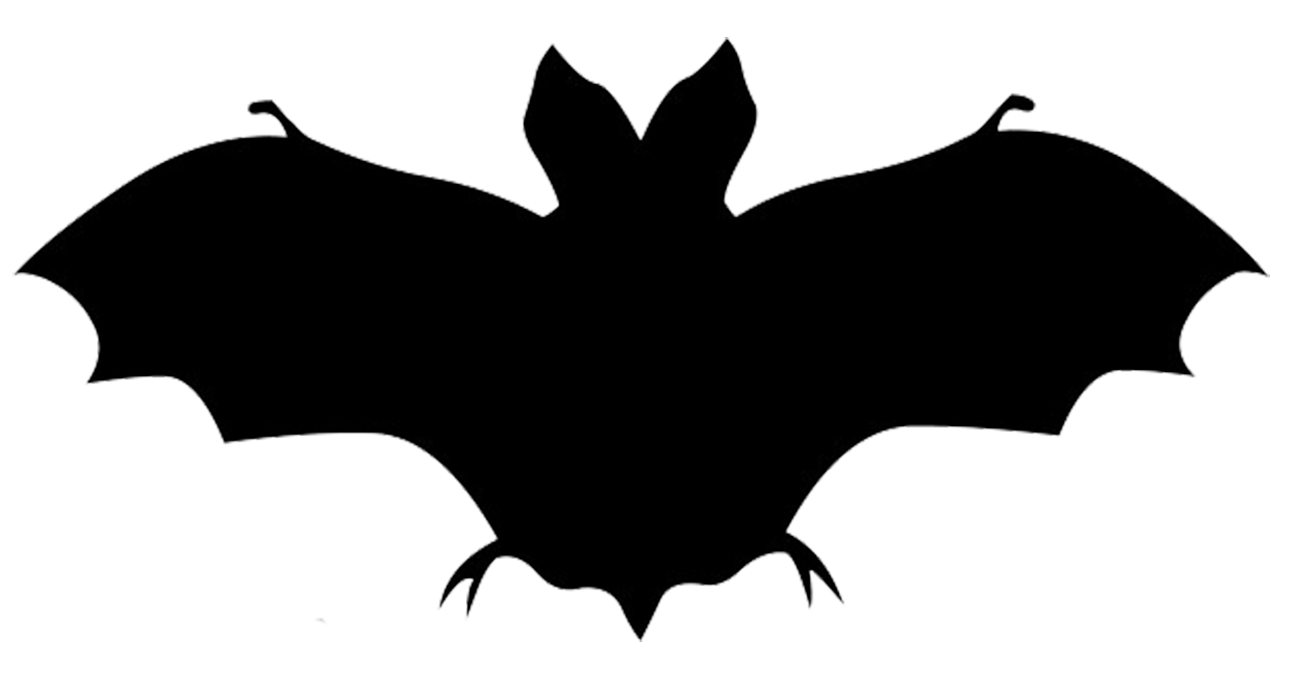 Clipart face bat. Bats flying silhouette at