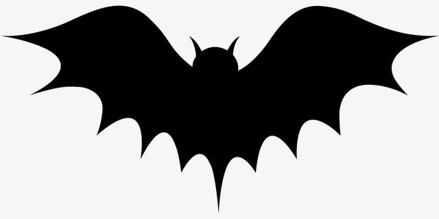 Bats clipart silhouette. Bat simple modern batman