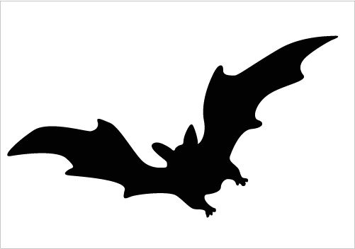 Bats clipart silhouette. Flying at getdrawings com
