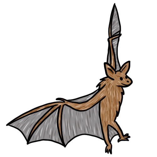 Bats clipart vector. Silhouette of bat at