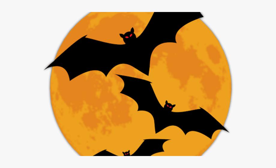 Bats clipart. Halloween moon no background
