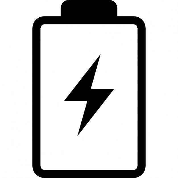Battery clipart. With a bolt symbol