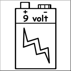 Electricity clipart volt. Clip art battery b