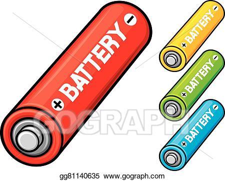Vector stock batteries illustration. Battery clipart aa battery