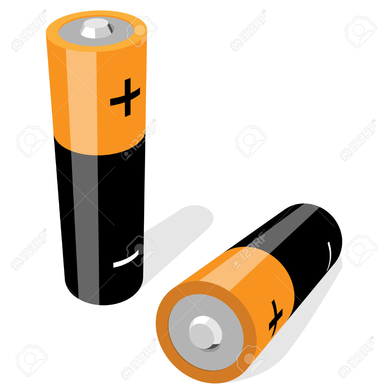 Battery clipart aa battery. Size batteries isolated panda