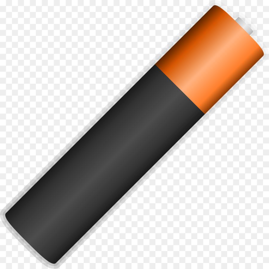 Cartoon orange transparent clip. Battery clipart aaa battery
