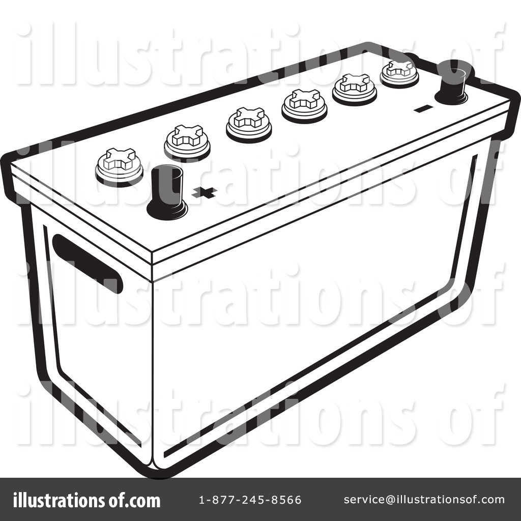 Illustration by lal perera. Battery clipart batery