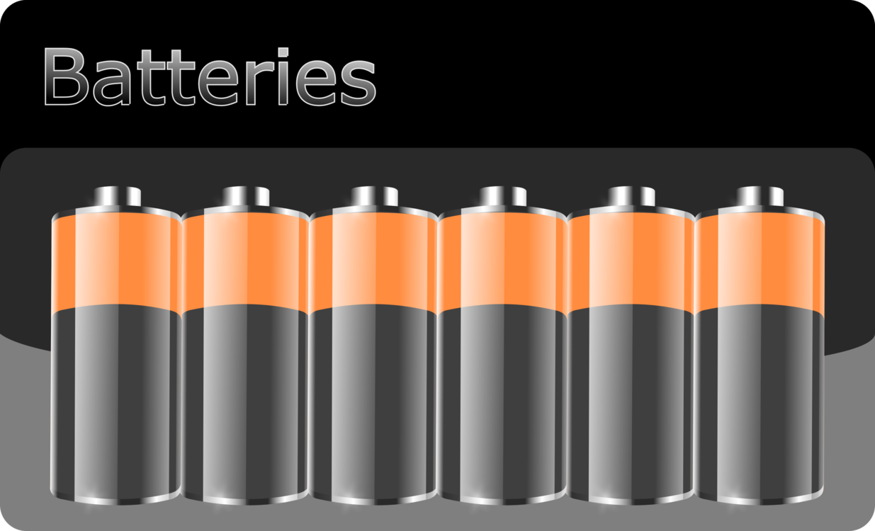Orange cylinder charger png. Battery clipart battery pack