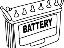 Battery clipart black and white. Car objects s bw