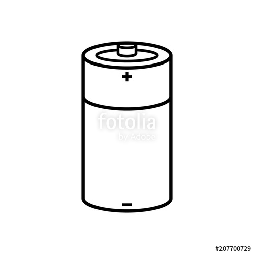 Battery clipart black and white. Cartoon line background stock