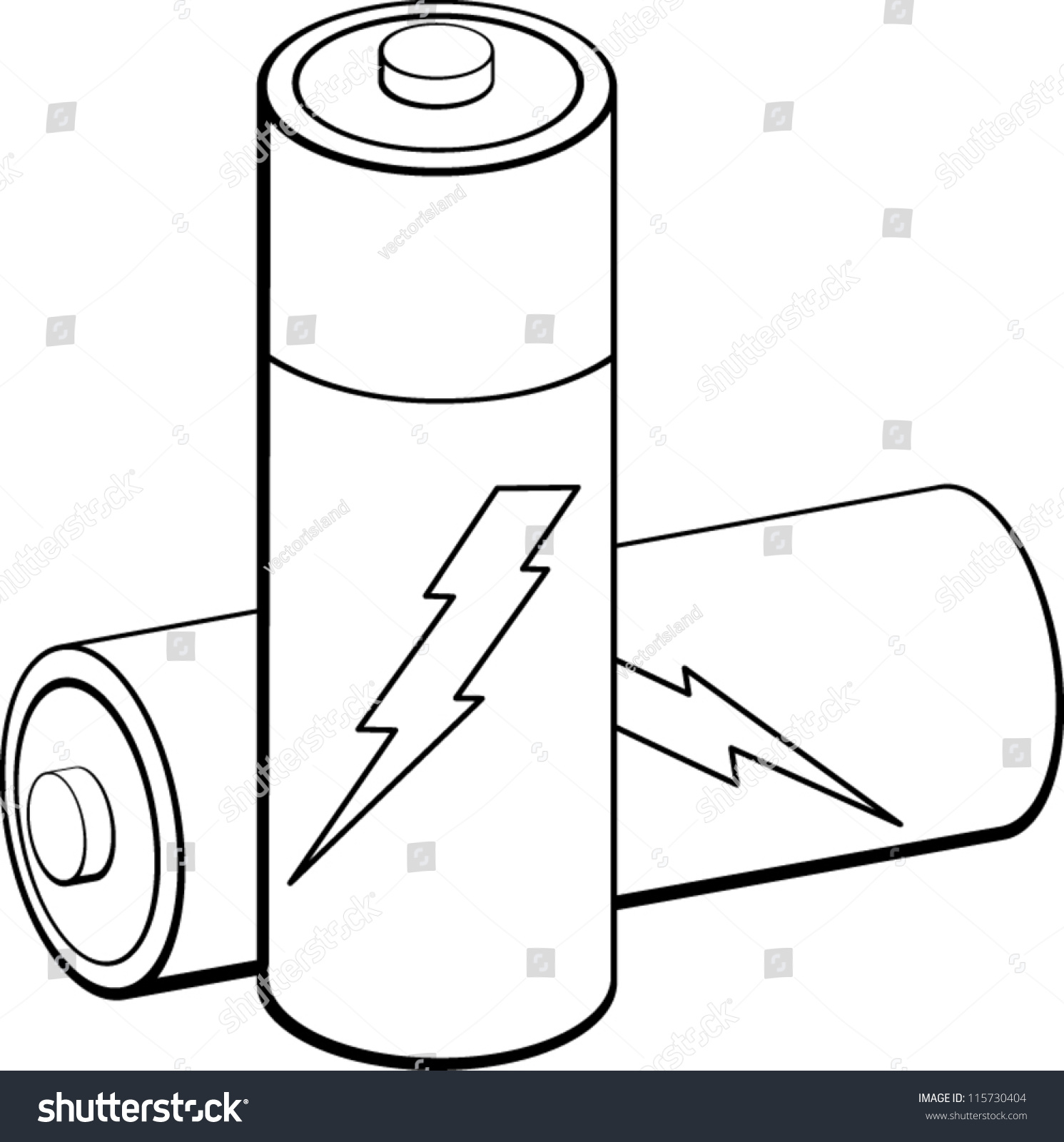 Batteries portal . Battery clipart black and white