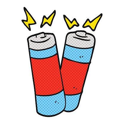 Battery clipart cartoon. Batteries premium clipartlogo com