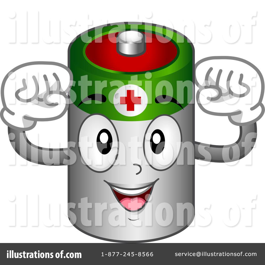 Battery clipart cartoon. Illustration by bnp design