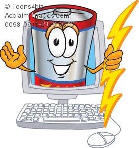 Battery clipart cartoon. In a computer