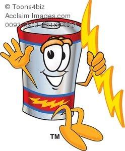 Jumping . Battery clipart cartoon