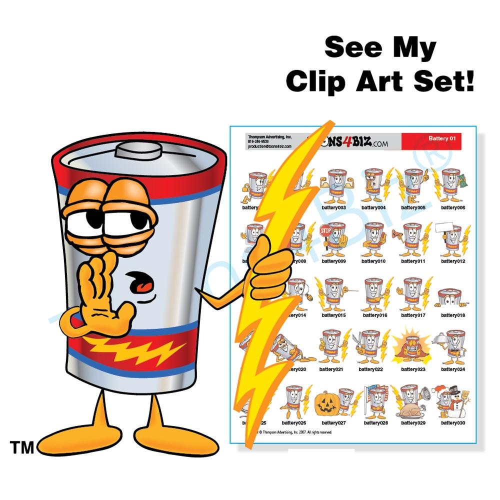 battery clipart cartoon
