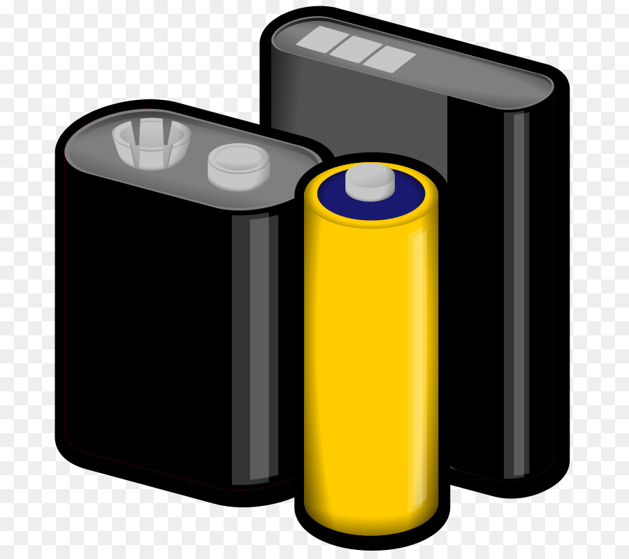 battery clipart cylinder