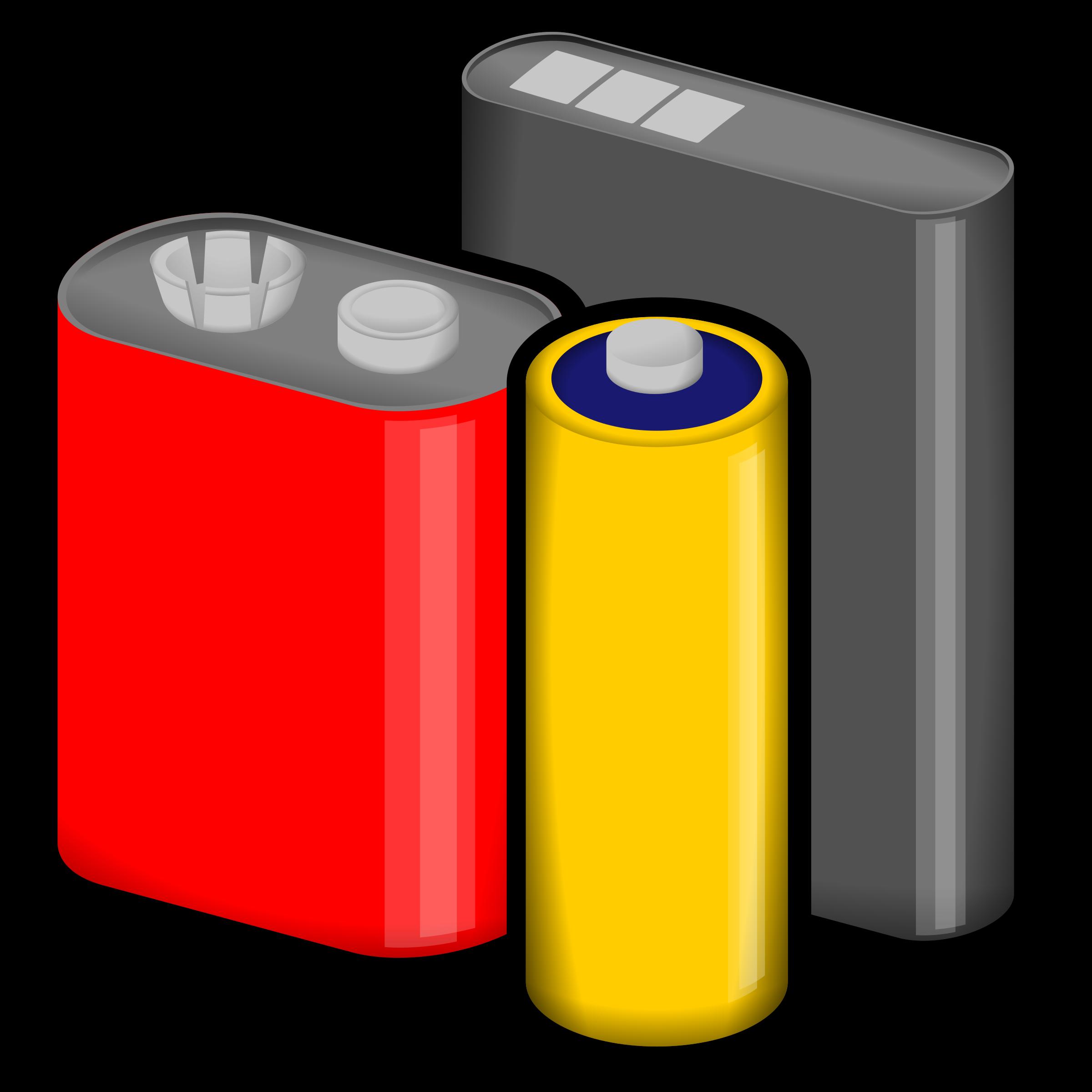 Battery clipart cylinder. Batteries big image png