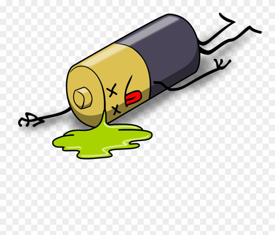 Battery clipart dead battery. Batteries and accumulators steemit