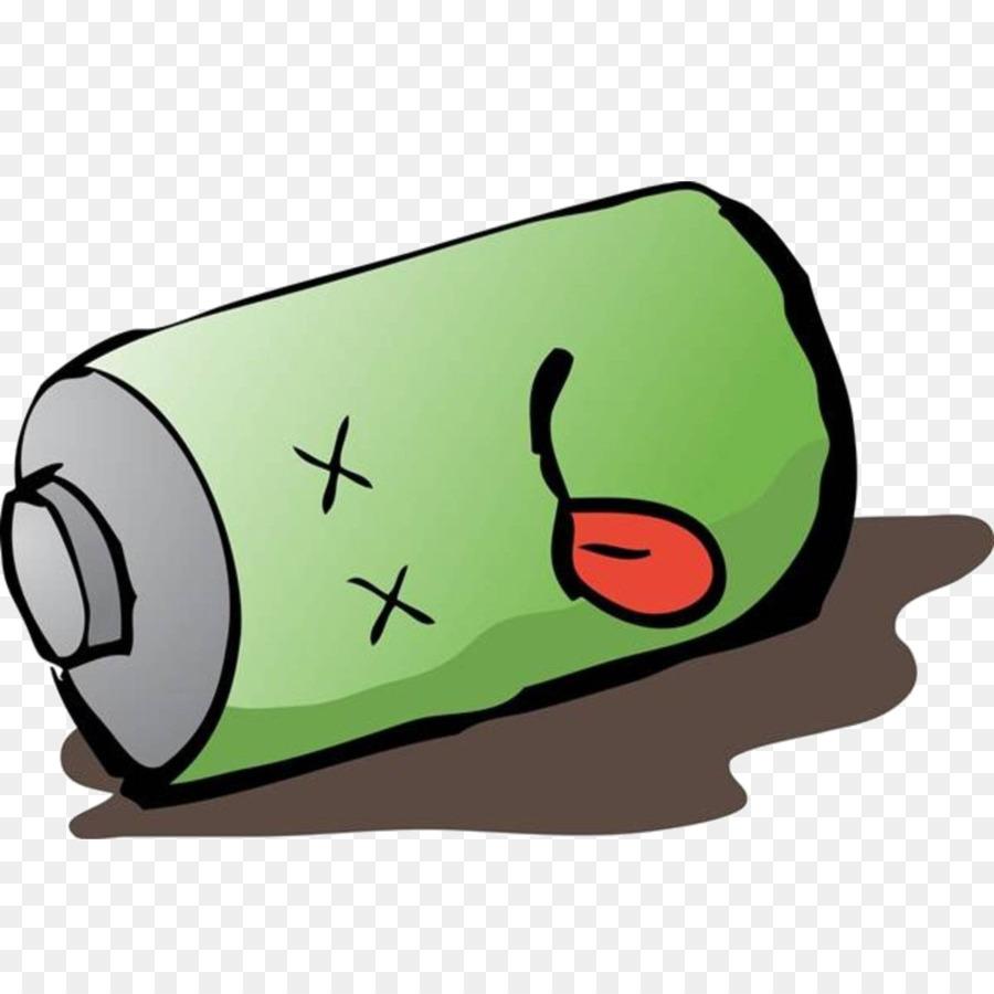 Green grass background technology. Battery clipart dead battery