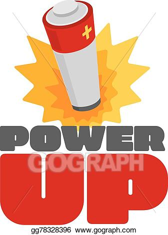 Burst clipart cartoon. Eps illustration power up