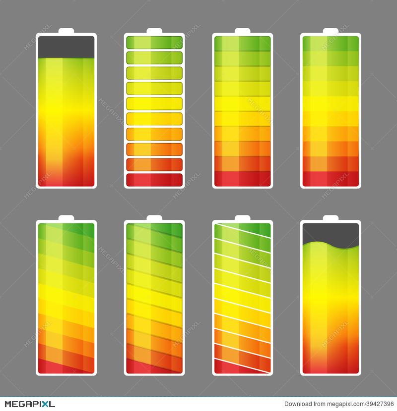 Battery clipart energy level. Meter icon illustration megapixl