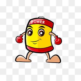 Cartoon png images vectors. Battery clipart happy