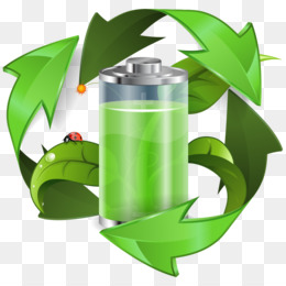 Energy conservation recycling symbol. Battery clipart happy