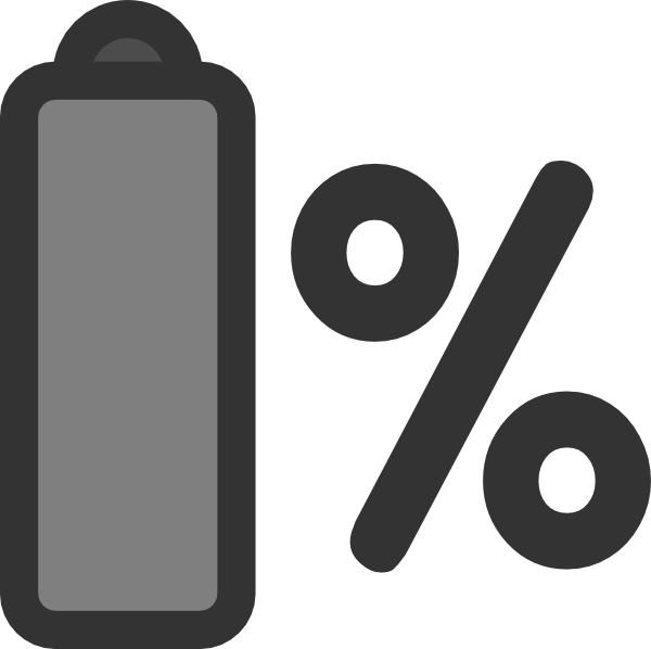 Battery clipart laptop battery. Percentage clip art at
