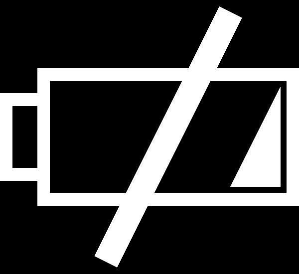Crazyterabyte low icon clip. Battery clipart medium