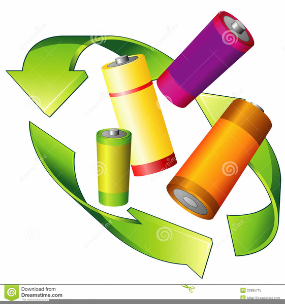 Recycle batteries free images. Battery clipart medium