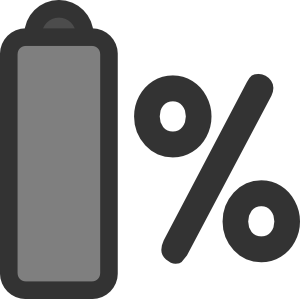 Percentage clip art at. Battery clipart mobile battery