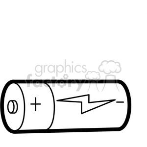 black white clip. Battery clipart outline