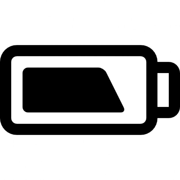Battery clipart outline. Charging status icons free