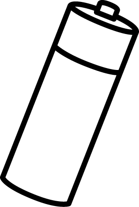 Battery clipart outline. Black and white objects