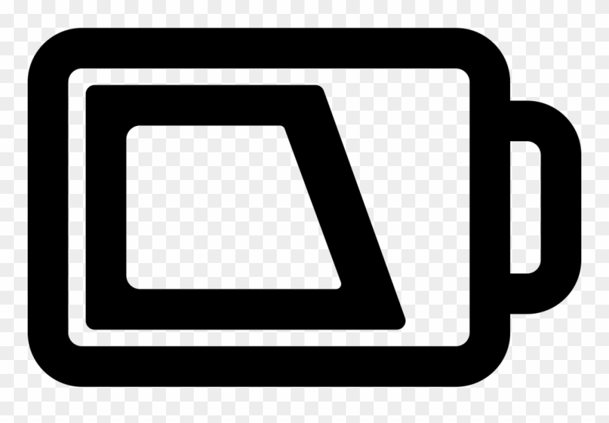 Outline with charge comments. Battery clipart phone battery