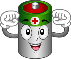 Roomsevilla . Battery clipart positive