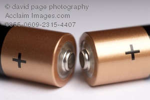 Battery clipart positive. Image of contacts