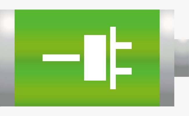 Rechargeable icon electrode negative. Battery clipart positive