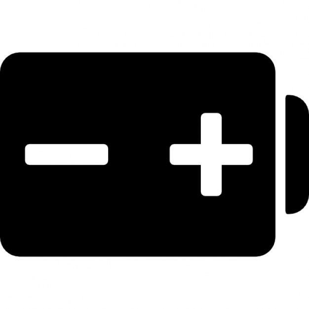 With and negative poles. Battery clipart positive