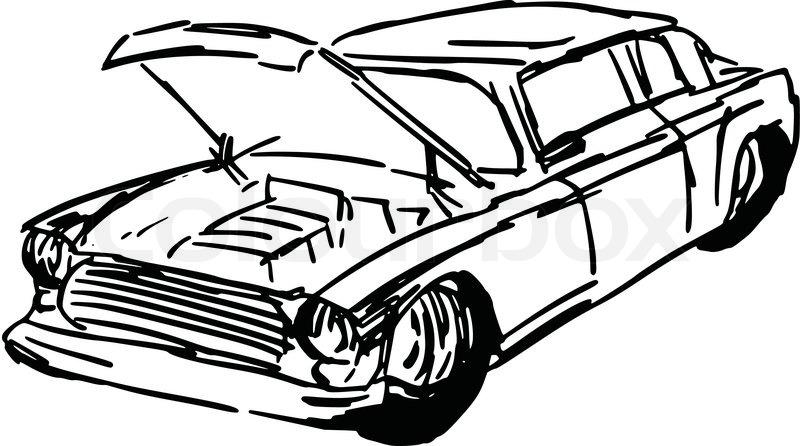 Car drawing at getdrawings. Battery clipart sketch