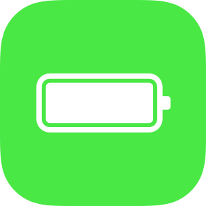 . Battery clipart square
