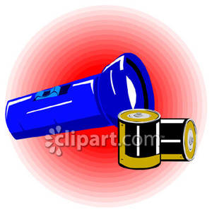 Flashlight with batteries royalty. Battery clipart strong battery