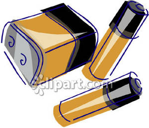 Disposable batteries royalty free. Battery clipart strong battery