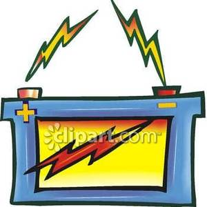 Battery clipart strong battery. Zapping car royalty free