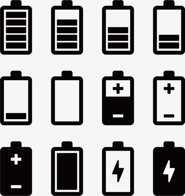 Icon png and for. Battery clipart vector
